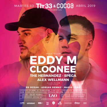 Thr33 Events & Cocoa Music presents Eddy M & Cloonee